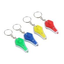 4 pcs Chaveiro Keychain LEVOU Luz UV Portátil Mini Chaveiro com Detector de Dinheiro (Cor Aleatória)