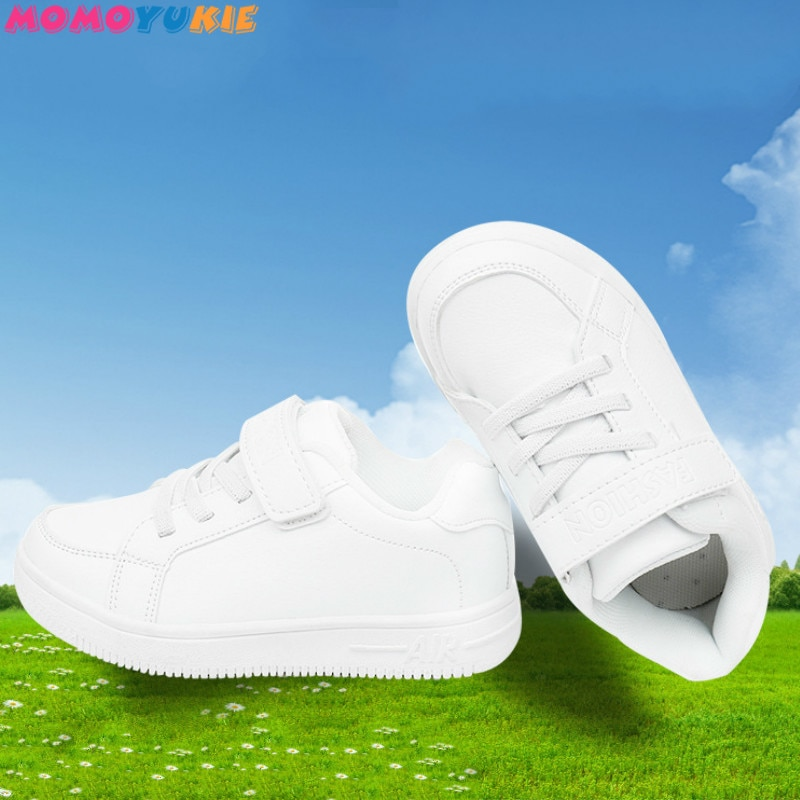 kids sneakers boys shoes girls trainers Children leather shoes white school shoes pink casual shoe f