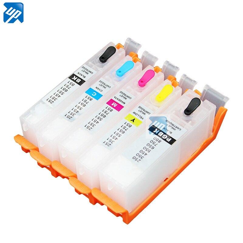 5sets para canon IP7260 MG5460/MG5560/MG5660/MG6460/MG6660 MX726/MX926 IX6860 cartucho de tinta rellenable pgi 650 PGI650 PGI-650