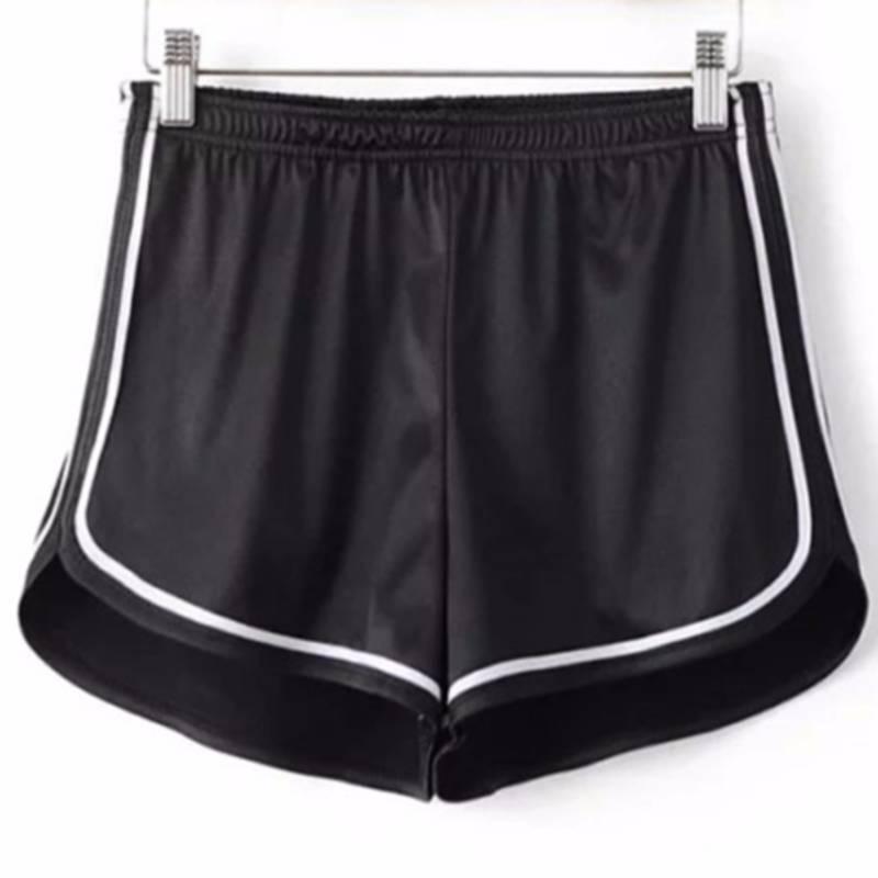 Fashion Women Summer Casual Silk Skinny Hot Shorts High Elastic Waist White Egde Shorts