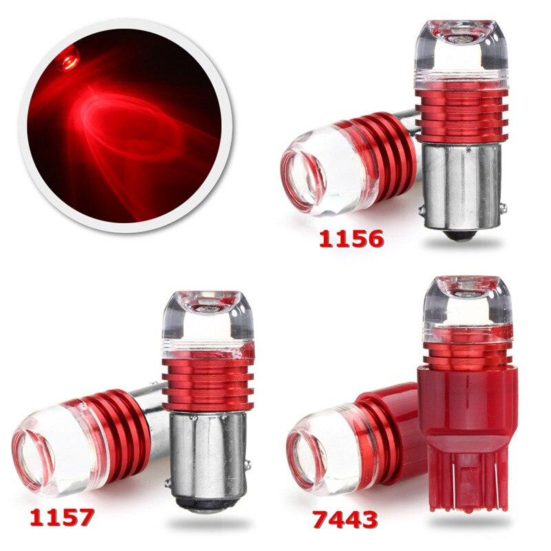 2 шт. 1156 1157 7443 3 Светодиодные Автомобильные красные поворотные огни лампы задние тормоза стробоскоп лампы красные светодиодные стоп-сигналы