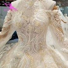 AIJINGYU أكثر الزفاف فساتين الزفاف ارتداء أثواب المواد 2018 مع الأكمام تحت 1000 مثير ثوب الزفاف الأميرة
