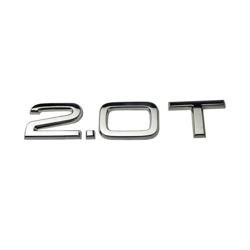 3D пластиковые хромированные 2,0 T автомобильные наклейки эмблемы Значки Эмблемы Эмблема