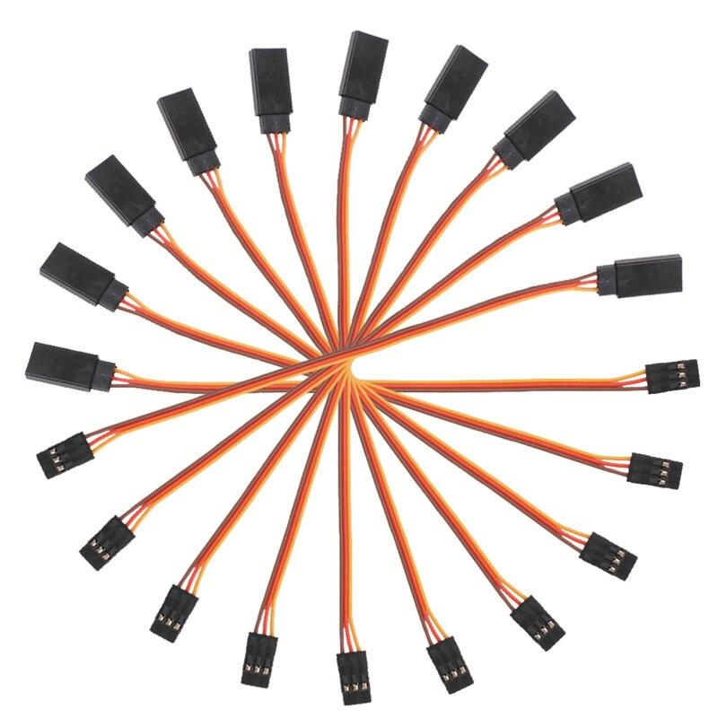 Nuevo cable de conexión Servo de extensión 10 Uds 150mm para RC Futaba JR 15cm macho a hembra