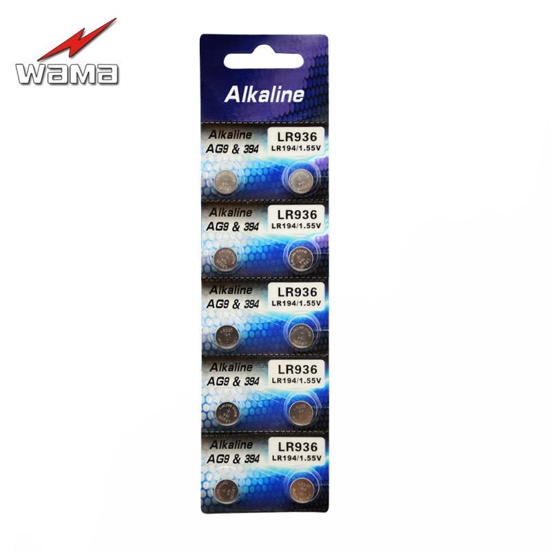 10 teile/los Wama AG9 1,5 v Uhr Münze Batterien 394 L936 LR45 194 Alkaline Knopfzellen Drop Schiff