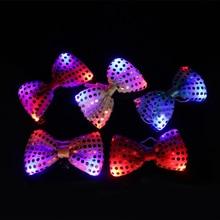 Led Tie Knipperende 10/Lote Heldere Mixcolor Mannen Vrouwen Lichtgevende Stropdas Fashion Party Dance Scènes Tie Up Speelgoed Voor gloeilamp
