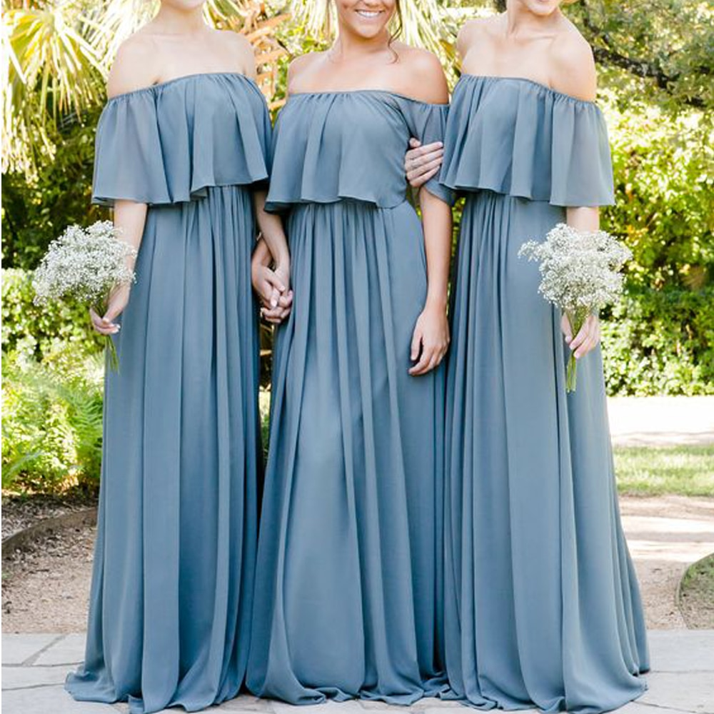 maid of honor dresses for weddings bridesmaid party dresses for women long prom dress graduation dresses back of bandage a line superkimjo bridesmaid dresses off the shouler ruffle a line chiffon long maid of honor dresses 2019 wedding party dresses