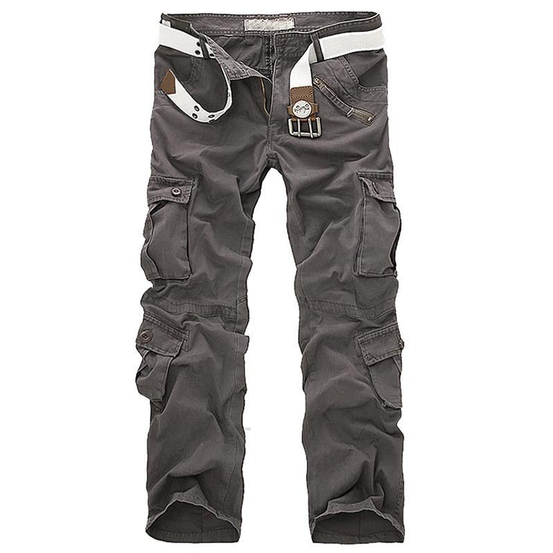 Männer military hosen Cargo-kampf overalls denimjeans armee jeans Lose Multi-Tasche Plus Größe Casual männer Hosen