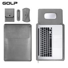 GOLP universel housse en cuir souple pour Macbook Air Pro Retina 11 12 13 15 pour housse dordinateur portable pour Macbook air 13.3 pouces