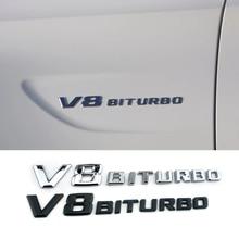 1-10 Pcs V8 BITURBO Emblme Logo 3D Auto Aufkleber Für Mercedes Benz AMG B E C ML SL w221 W203 W205 W210 CLA R172 Fender Auto Styling