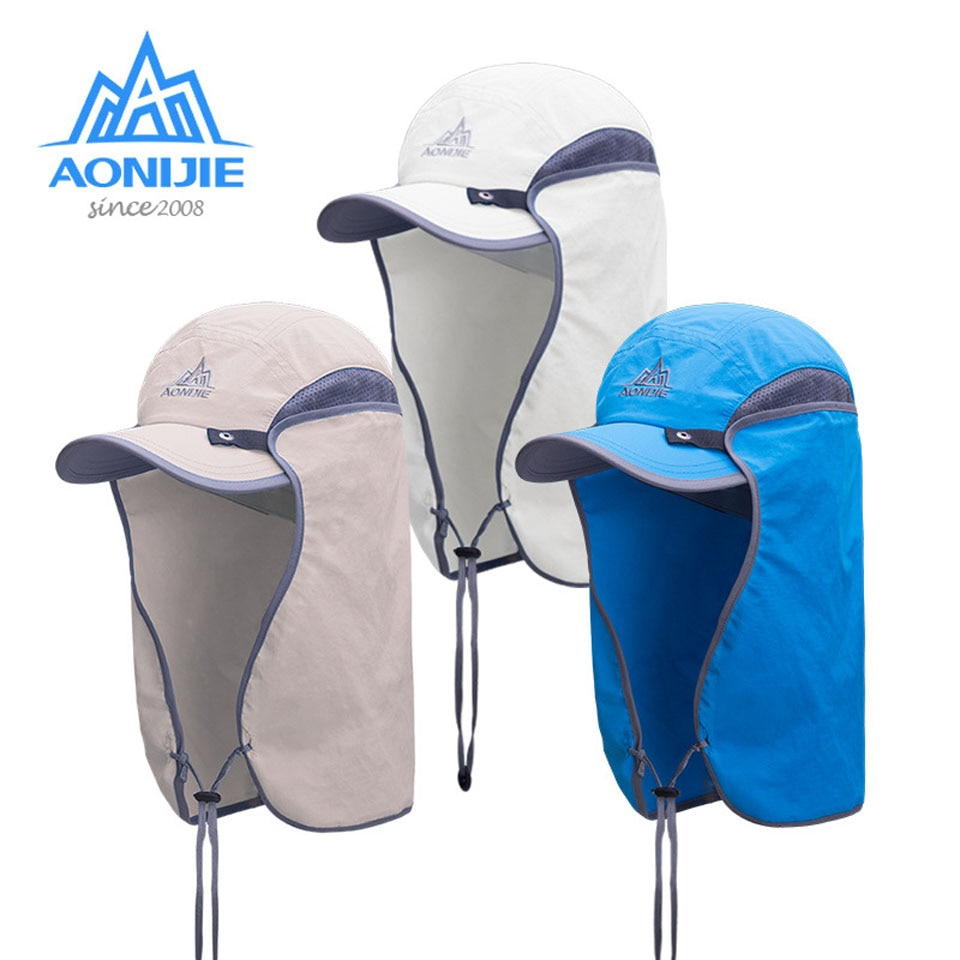 AONIJIE, sombrero de nailon con protección UV para correr para hombre, senderismo, caza, pesca, sombreros deportivos de Exteriores, viaje, Running, gorra de sol al aire libre