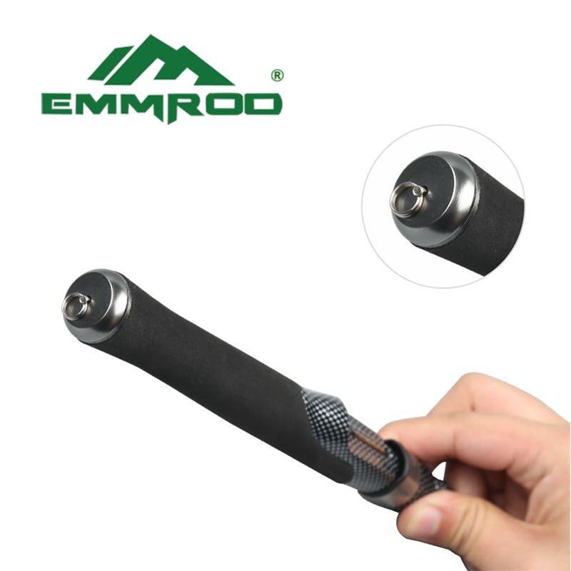 EMMROD Spinning Fishing Rod Set 57cm Mini Protable Stainless Steel rod +all metal fishing reel  Ice Rock fishing Gear PZ-SG enlarge
