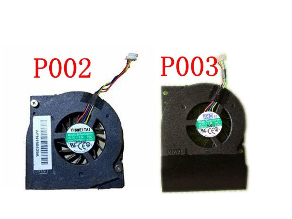 Nuevo ventilador de cpu para portátil, para AVC BAAA0508R5H P002 P003 DC5V 0.5A, 4 líneas, sistema gráfico para notebook, Enfriador de ventilador de refrigeración