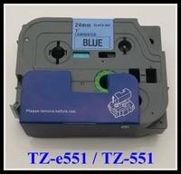 new 2014 p touch tape tz 551 tz551black on white tape 24mm tz 551 compatible tz tape
