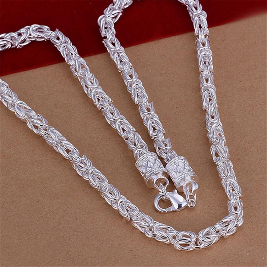Бесплатная доставка, популярное красивое модное женское и мужское серебряное ожерелье в стиле ретро, высокое качество, великолепные ювелирные изделия N048
