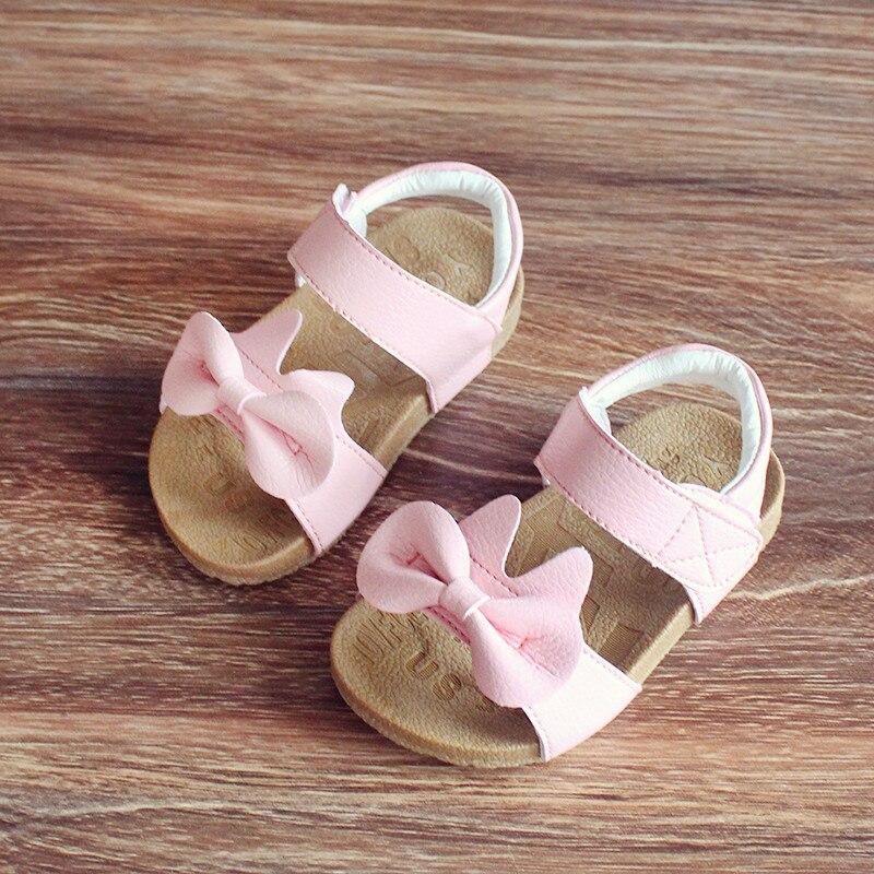 Детская обувь для девочек из натуральной кожи; Летние сандалии для девочек 2020; Обувь принцессы с бантом для детей 1-3 лет; Нескользящие детские сандалии