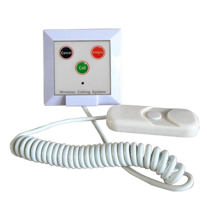 Timbre de llamada de emergencia de 433,92 mhz 10 Uds. Timbre de llamada para pacientes de hospital para ancianos niños K-W3-H clínica