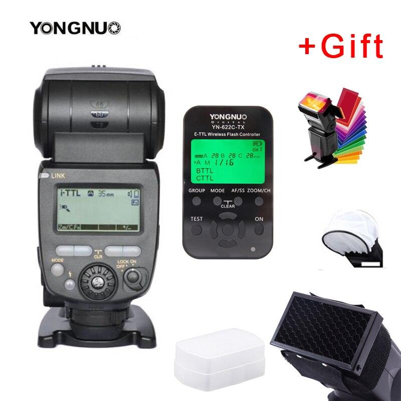 YONGNUO YN685 YN-685 (YN-568EX II versión mejorada) Flash Speedlite inalámbrico HSS TTL para Canon + YN622C-TX + filtro + difusor
