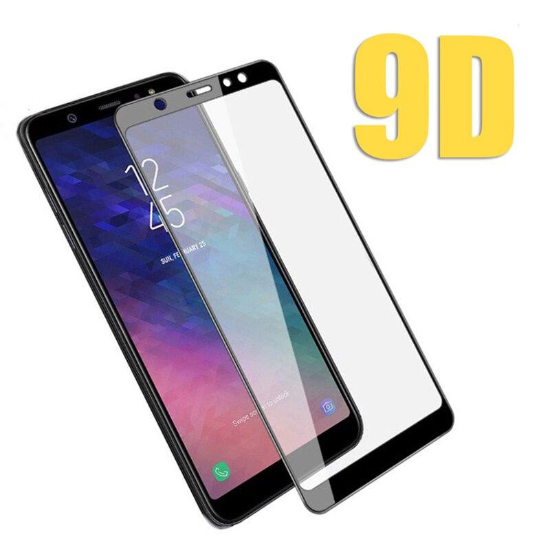 Vidrio protector 9D para Samsung A6 2018, vidrio para Galaxy A6 Plus J6 2018 A J 6 6A 6J, protector de pantalla de cristal, película protectora