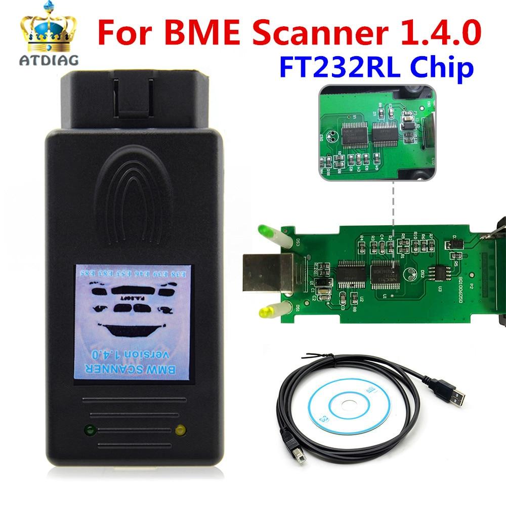 Para escáner B/MW 4,0 lector de código 1,4 para herramienta de diagnóstico de versión desbloqueada B/MW OBD2