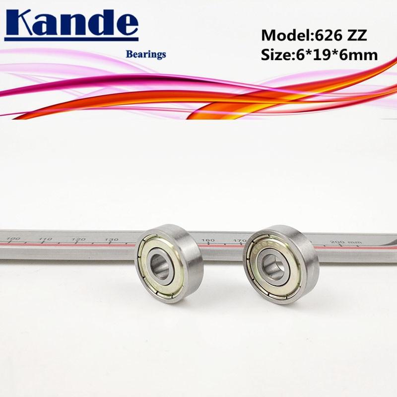 Kande Bearings 626 ABEC-1 626 ZZ  ABEC-3 626ZZ  ABEC-5 626ZZ  Miniature Deep Groove Ball Bearing 6x19x6mm 626-2Z