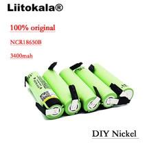 2019 5pcs LiitoKala NEW original NCR18650B 3.7V 3400mAh 18650 rechargeable lithium battery  battery + DIY nickel piece