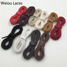 Nouvelle collection Premium Weiou lacet blanc noir cire plate lacet coton chaussure lacet largeur 7mm cordon fin pour unisexe cuir chaussures bottes ficelle