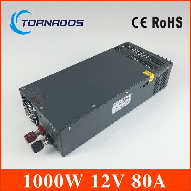 S-1000-12 fonte de alimentação 12 v 1000 w fabricante venda direta único tipo de saída do transformador 12 v
