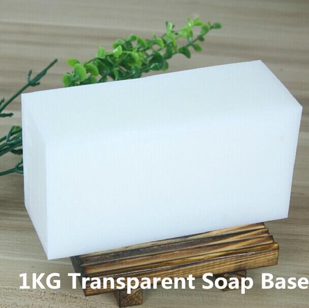 1KG de alta calidad Natural puro transparente jabón Base DIY hecho a mano jabón materias primas