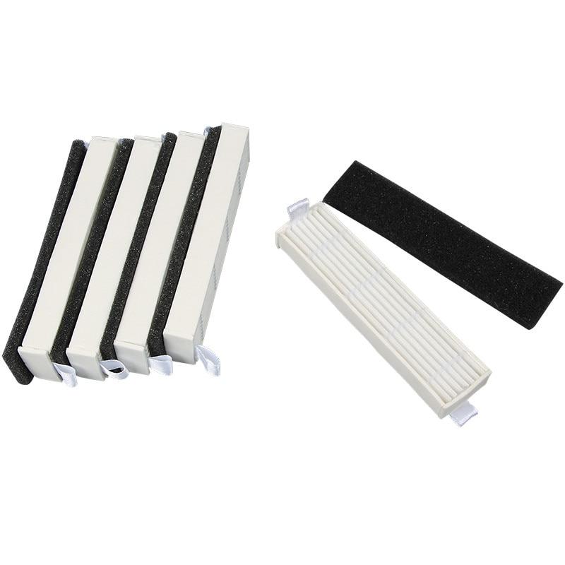 5x Robot aspirador filtro + 5x esponja filtro reemplazo para Ecovacs Slim DA60