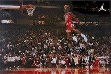 Affiche Michael Jordan grande toile impression à lhuile maison mur dicoratif Art pas cher célèbre ligne fétide Dunk Art impression Vintage Sports