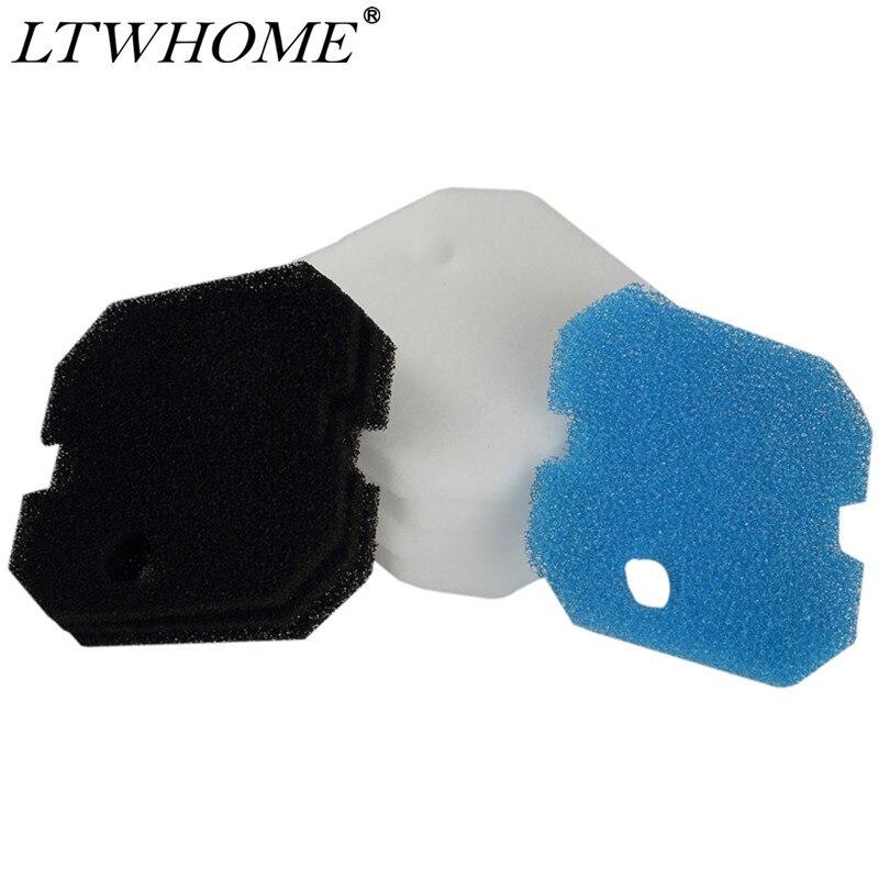 Almohadillas de repuesto LTWHOME de carbono grueso y filtro fino aptas para Eheim Professional Pro 2 2226/2326/2026/2128, Experience 350