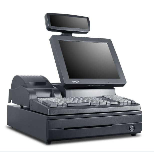 Cash Register Cash Registers Cash Register POS Machines One Machine VTOP183 connect the pos machine before the use of cash used in supermarket restaurant cashier ek330
