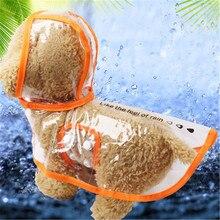 Новое поступление, прозрачный ПВХ водонепроницаемый плащ для домашних животных, Одежда для питомцев, легкая одежда, водонепроницаемый дождевик для маленьких собак с капюшоном