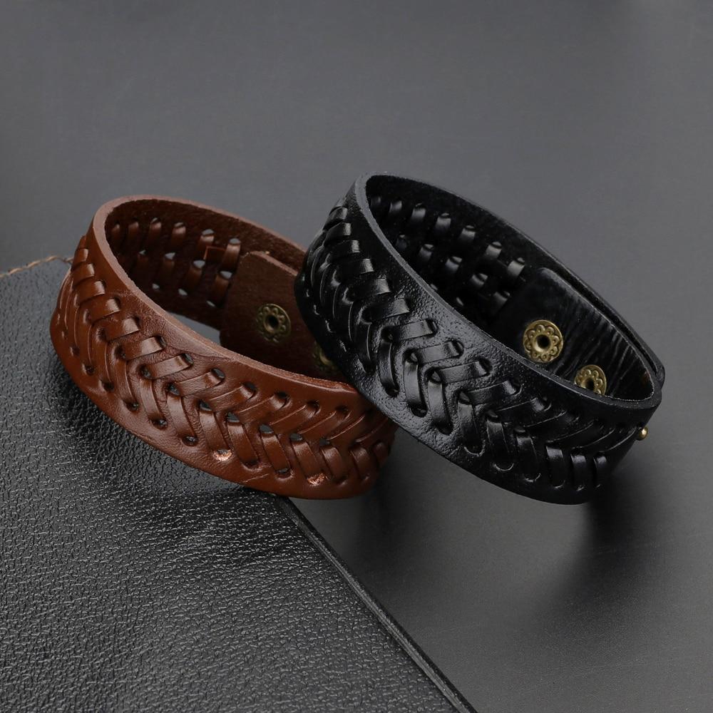 2019 New Weaving Genuine Leather Wing Bracelet Men Multilayer Bracelet Punk Guitar Wrap Bracelets for Women Vintage Jewelry Gift