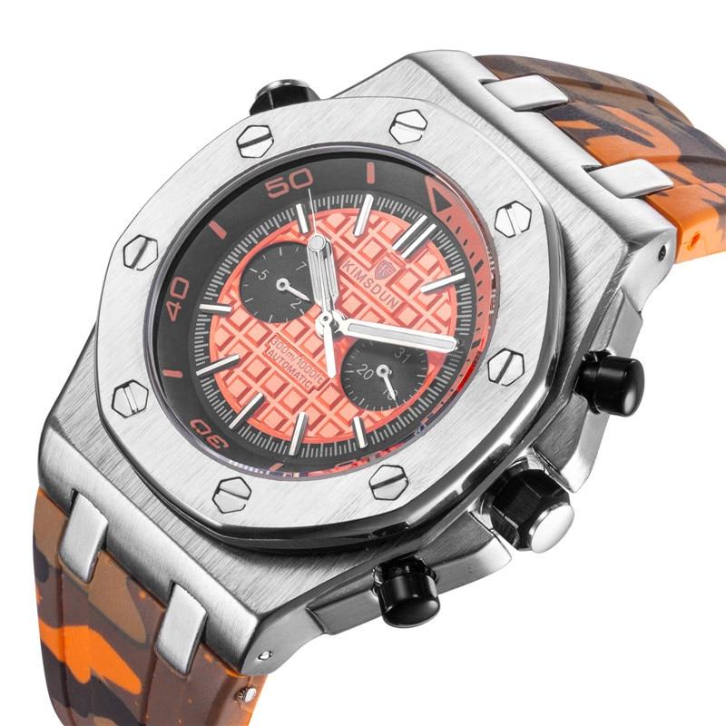 AliExpress - KIMSDUN Top Luxury Brand Fashion Three Needles  Sport Men Watch Men Waterproof Automatic Mechanical Watch relogio masculino