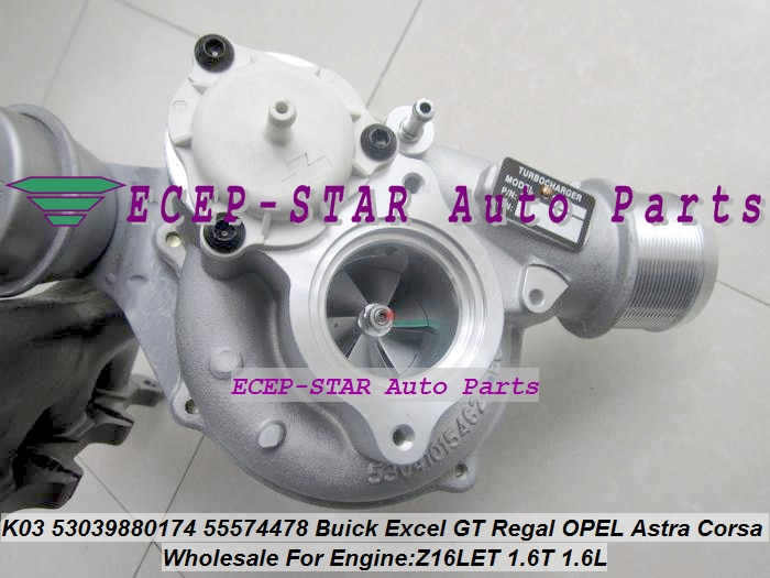 K03 0174 53039880174 53039700174 55574478 5860016 55355617 Turbo Para Buick Excel GT Régia Para OPEL Astra Corsa Z16LET 1.6 t 1.6L