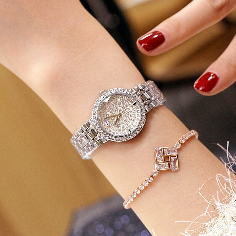 Luxury Ladies Rhinestone Wristwatch Women Watches Diamond Brand Elegant Dress Quartz Watches Relogio Feminino Dropshipping 2019 enlarge