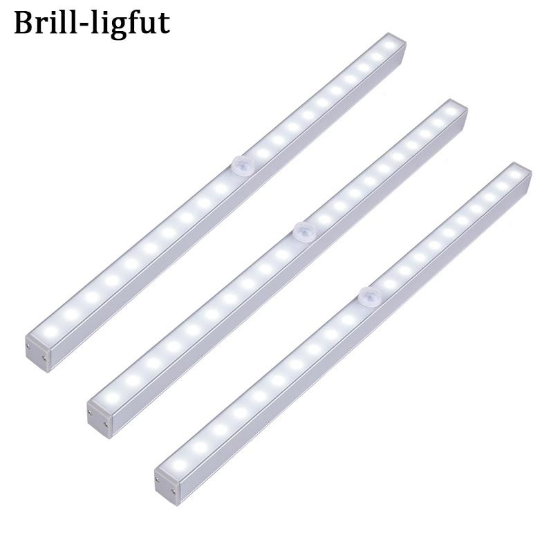 Wireless PIR Motion Sensor 20 LED Under Cabinet Lights Night Light For Cabinet Kitchen Bedroom Wardrobe Indoor Stair Wall lamps