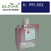 KLDINK-cartouche dencre rouge PFI-301R (encre PFI-301 1492B001)