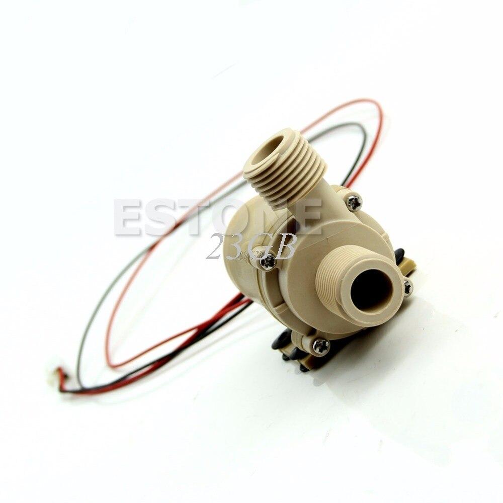 Dc12v/24 v bomba de circulação de água quente sem escova solar do motor bomba de água 5 medidores 3 jun26_25