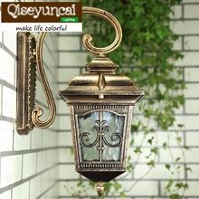 Étanche En Aluminium moulé sous pression Porche Lumière Extérieure Lampe Murale Jamais Rouille Cottage Antique Jardin Allée Rue Lumières Bronze