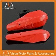 Protector de manillar de plástico rojo para CRF50 CR80 CR85 CRF110 250R 250X 450X 450R Motocross