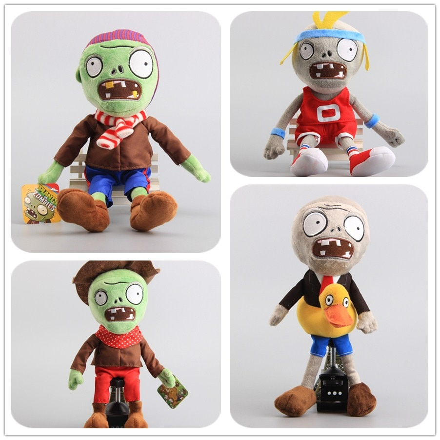 "8 arten Pflanzen VS Zombies Gargantuar Zombie PVZ Weiche Puppen Zombies Gefüllte Spielzeug 12 ""30 CM Kinder Geschenk"