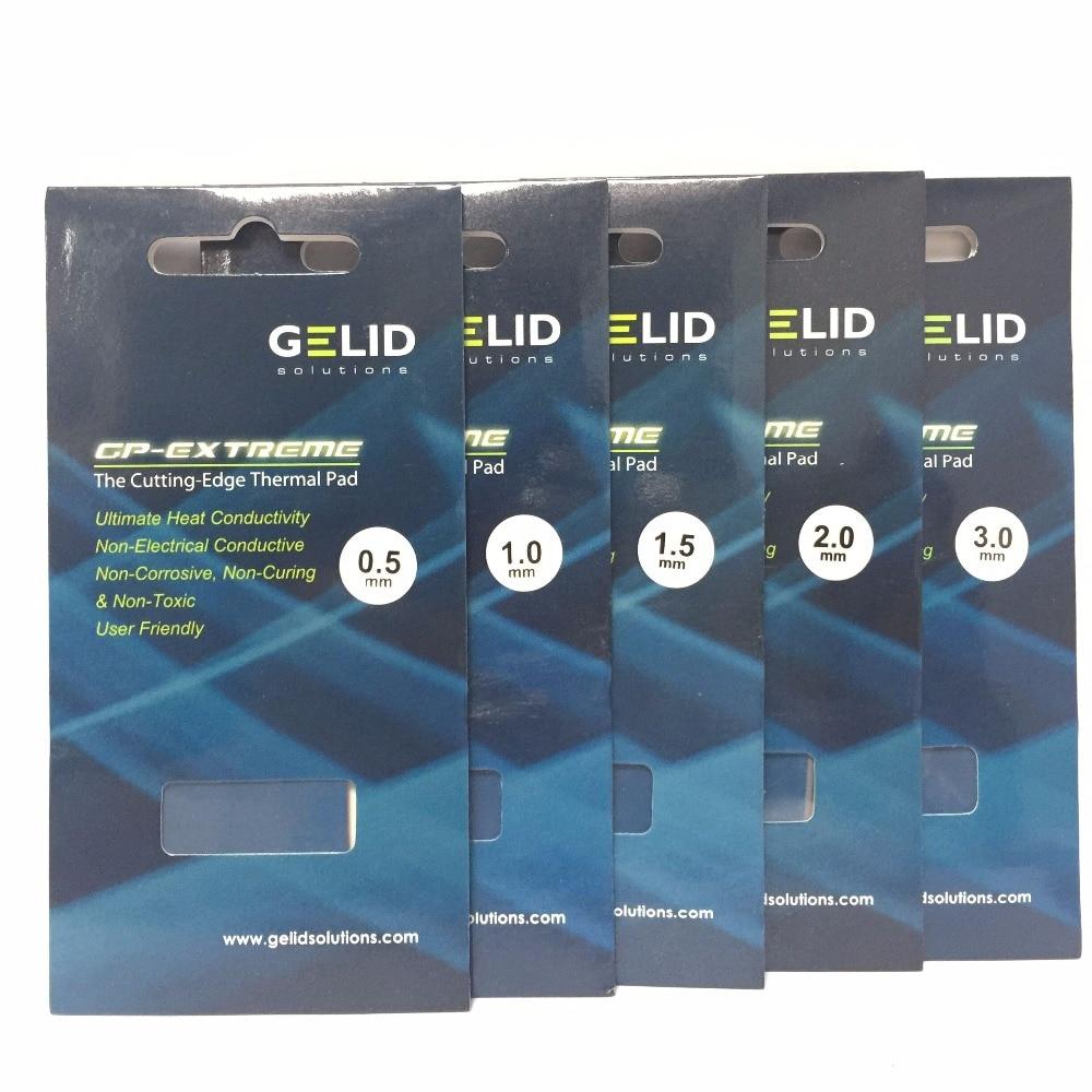 GELID W/MK 12 GP-EXTREME 80X40 0,5, 1,0, 1,5, 2,0 PC 3,0mm disipador para CPU y GPU de puente norte y sur de la tarjeta de vídeo Pad térmico,