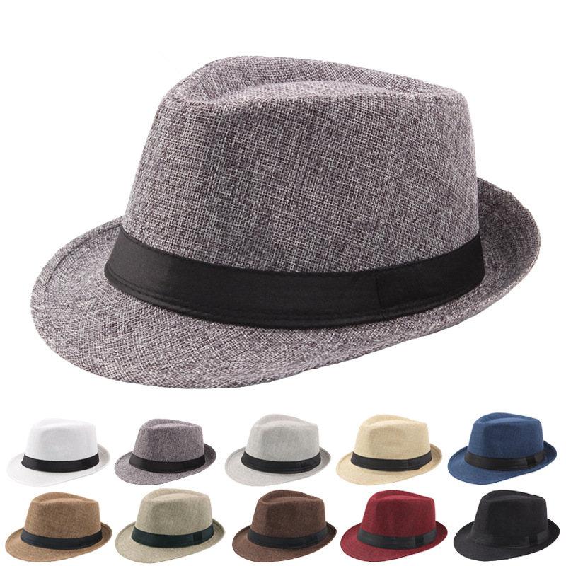 50 قطعة الربيع الصيف الرجعية الرجال القبعات فيدورا أعلى الجاز منقوشة قبعة الكبار الرامي القبعات الكلاسيكية النسخة الفاتحة
