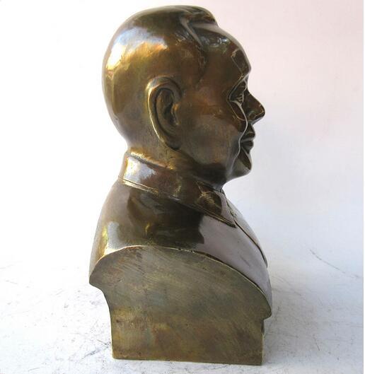 Estatua del busto del líder comunista chino Deng Xiaoping Cobre tallado de latón