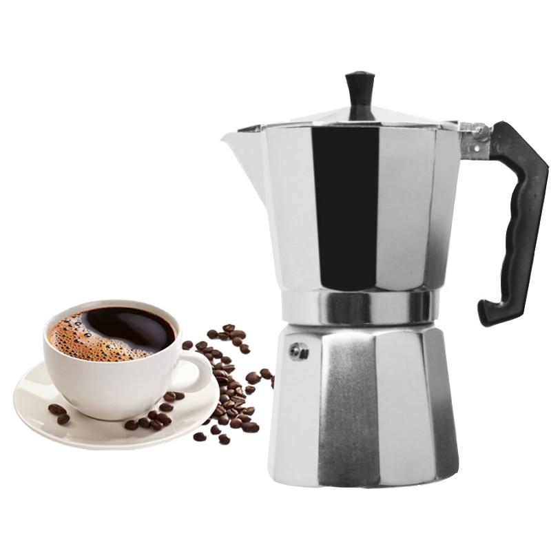 Kaffee Maker Aluminium Mokka Espresso Percolator Topf Kaffee Maker Moka Topf tasse/3cup/6cup/9cup/12cup herd Kaffee Maker