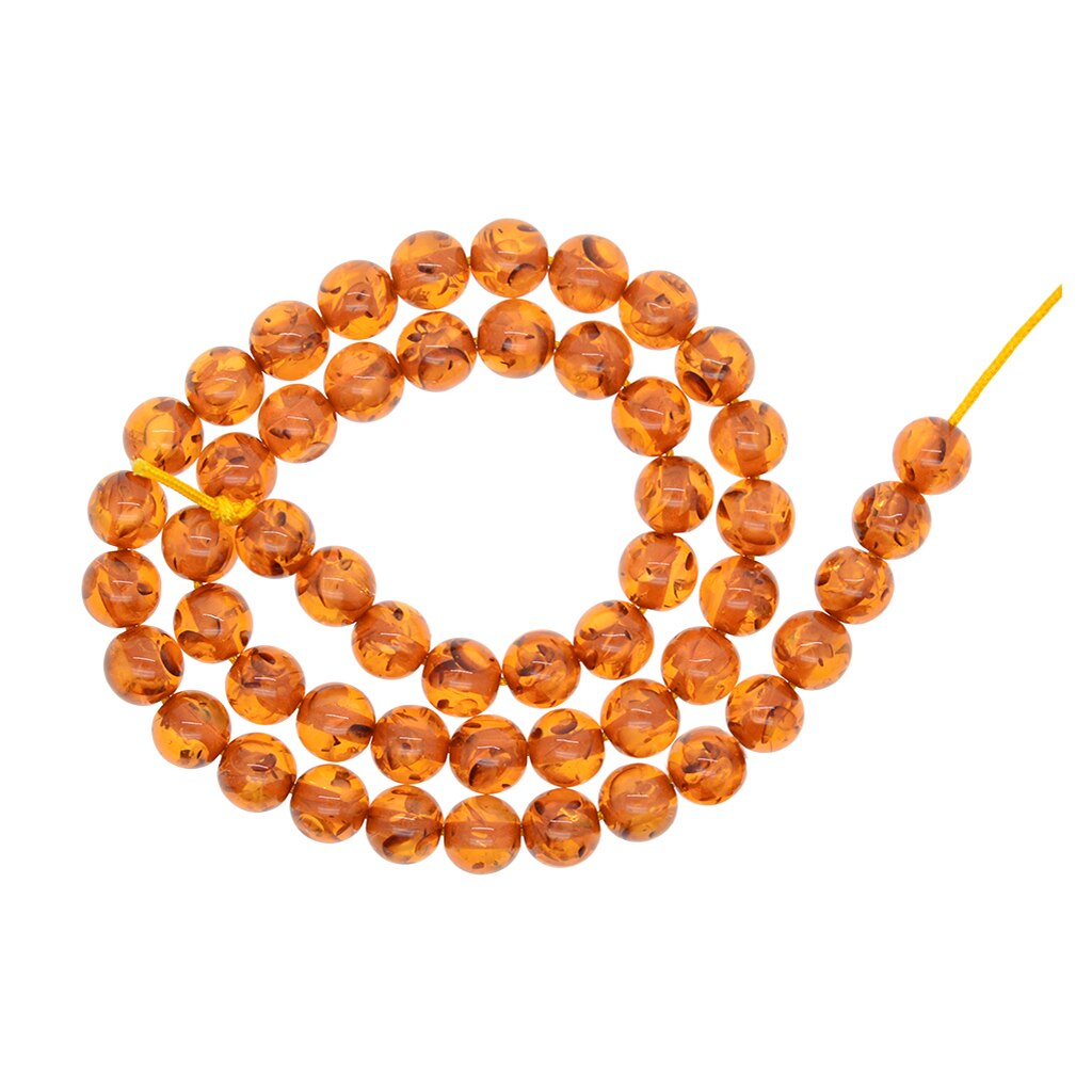 Piedra Natural sintética, Marrón miel, cuentas redondas sueltas de 8mm para hacer joyas, collar, pulsera, abalorios, suministros para manualidades
