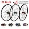 F3 בתוספת 8/9/10/11 דיסק בלם MTB הרי אופני גלגלי פחמן סגסוגת אטום נושאות רכזת 28 H גלגל אופניים סט 26 27.5 MTB זוג גלגלים